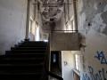 Le scale che portano al tetto