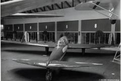Il SAI SS4 esposto al salone internazionale dell'aeronautica di Milano nel 1937