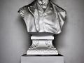 Il busto di Cristoforo Benigno Crespi negli uffici