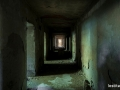 Uno dei corridoi seminterrati