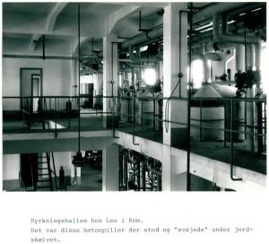 I silos di fermentazione della fabbrica