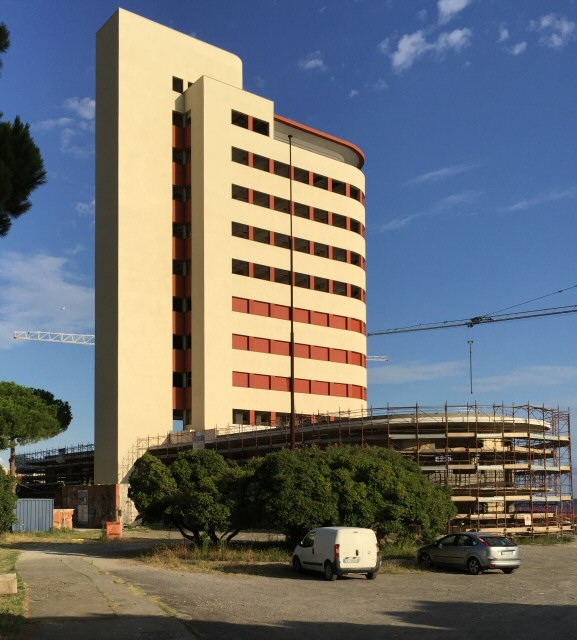 La colonia in fase di ristrutturazione (agosto 2016)